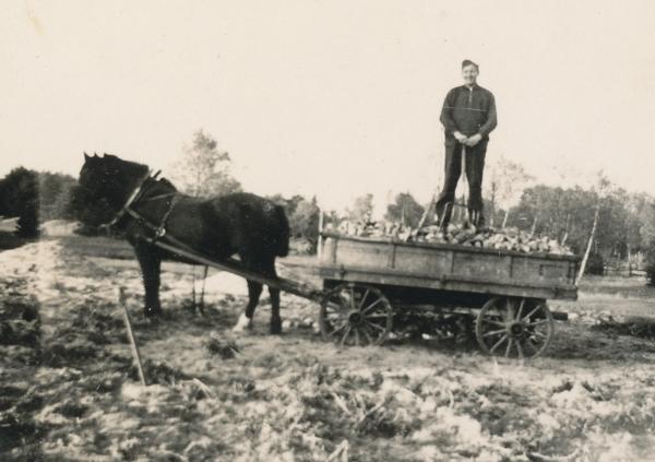 Hans Jakobsson Hallute 146, född 1921, på betlasset.
