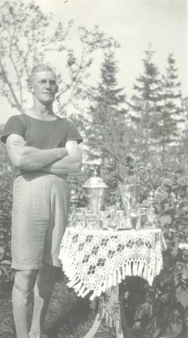 Idrottsmannen Kristian Nilsson Bomunds i Hammaren 510, född 1902 vid Hägdarve 110